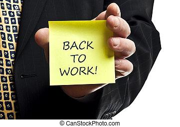 werken, back