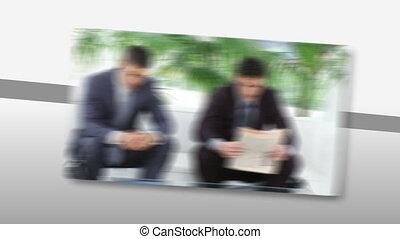 werken, beklemtoonde, zakenlui
