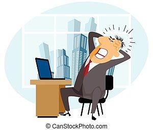 werken, gefrustreerde, man
