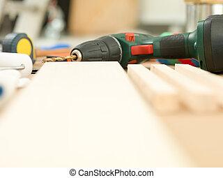 werken, gereedschap, thuis