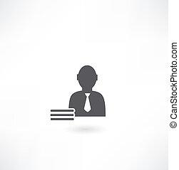 werken, man, pictogram