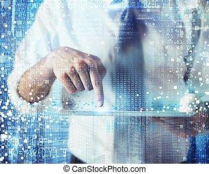 werken, met, technologie