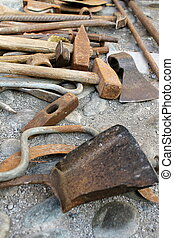 werken, oud, gereedschap