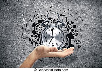 werken, tijd, concept
