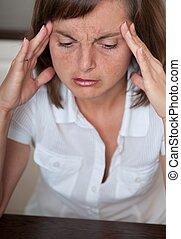 werken, vrouw zaak, hoofdpijn