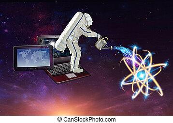 werkende , e-connection, ingenieur, techniek, technology.