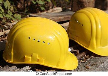 werkende , helmen