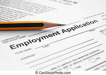 werkgelegenheid toepassing