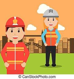 werkmannen , beroep, mensen