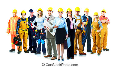 werkmannen , bouwsector, group.
