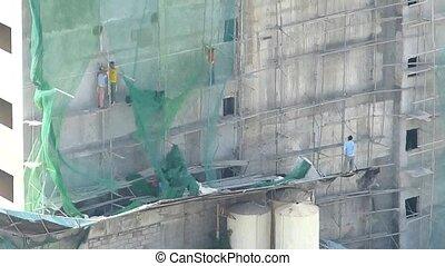 werkmannen , bouwsector, luchtmening
