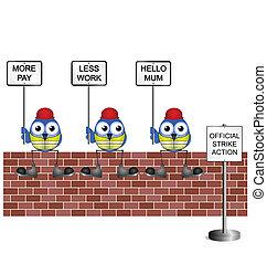 werkmannen , bouwsector, staking