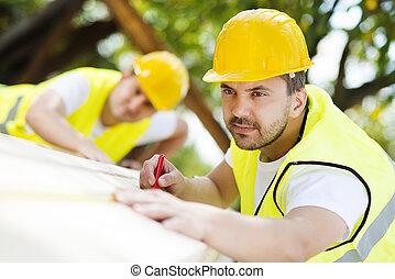 werkmannen , bouwsector