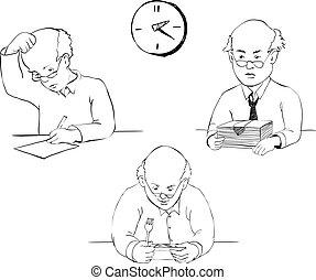 werkmannen , dag, kantoor