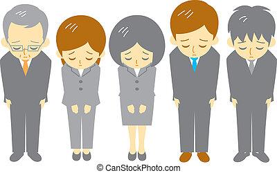 werkmannen , kantoor, apologize
