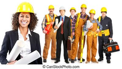 werkmannen , mensen, industriebedrijven