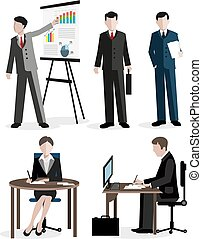 werkmannen , set, kantoor