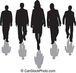 werkmannen , silhouette