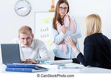 werkmannen , werken, het bespreken