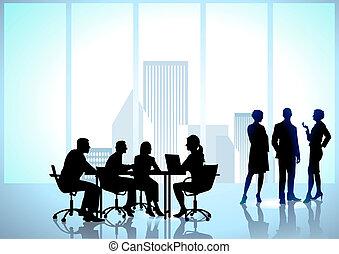 werkmannen , werken, kantoorteam