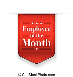 werknemer, lint, toewijzen, maand