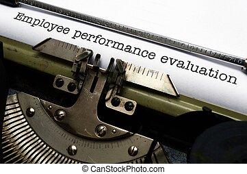 werknemer, prestatiesevaluatie