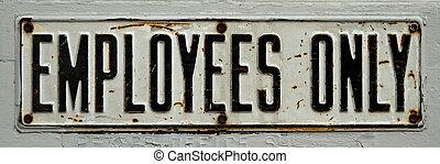 werknemers enig teken