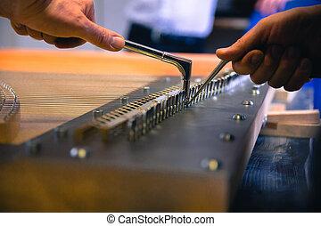 werkstatt, klavier