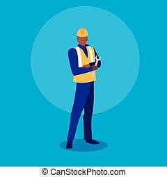 werktuig, industrieele werker, moersleutel