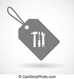 werktuig, set, pictogram, etiket