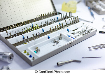 werkzeuge ausrüstung, für, orthopädisch, und, chirurgisch, rekonstruktion, von, der, totenschädel