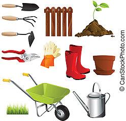 werkzeuge, kleingarten