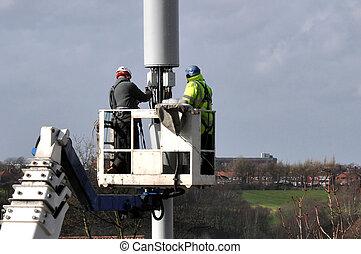 Wesen, Reparatur,  Mast, Telekommunikation