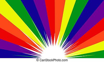 wesoła duma, tęcza koloruje, tło