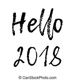 wesołe boże narodzenie, karta, z, kaligrafia, powitanie, 2018., szablon, dla, powitania, gratulacje, housewarming, afisze, zaproszenia, fotografia, overlays., wektor, ilustracja