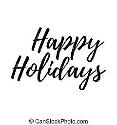 wesołe boże narodzenie, karta, z, kaligrafia, szczęśliwy, holidays., szablon, dla, powitania, gratulacje, housewarming, afisze, zaproszenia, fotografia, overlays., wektor, ilustracja