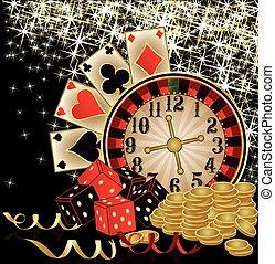 wesołe boże narodzenie, kasyno, tapeta