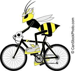 wesp, fiets