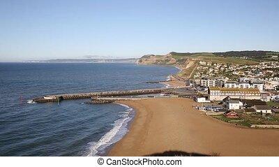 West Bay Dorset England uk small town on Jurassic coast...