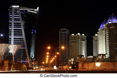 West Bay hotels area Doha - The main five-star hotels area...