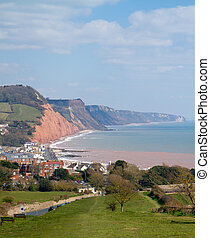 west coast, sidmouth, sud, percorso