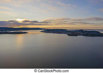 West coast Sweden in winter drone photo