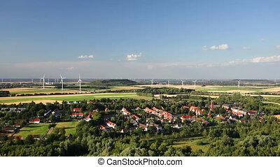 West German Wind Energy Landscape - Flat west German...