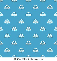 west hat pattern vector seamless blue repeat for any use