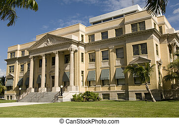 west, historisch, palm, gerechtshof