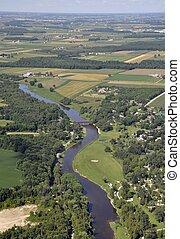 West Montrose Grand River aerial