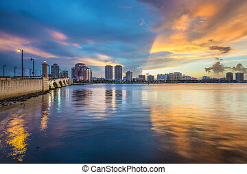 West Palm Beach Florida - West Palm Beach, Florida skyline...