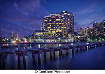 West Palm Beach Skyline at Night