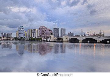 West Palm Beach Skyline Reflection