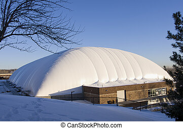 West Saint Paul Sports Dome Exterior - Exterior of all ...